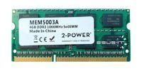 Pamięć RAM1x 4GB2-POWERSO-DIMMDDR31066MHzPC3-8500|MEM5003A