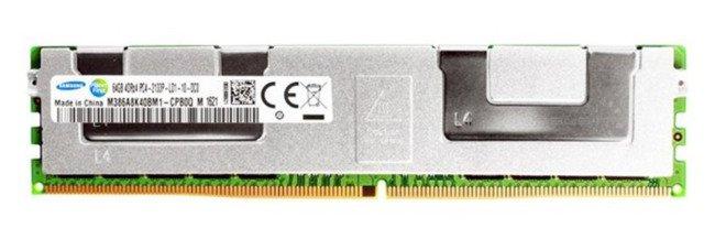 Pamięć RAM1x 64GBSamsungECC LOAD REDUCEDDDR42133MHzPC4-17000LRDIMM|M386A8K40BM1-CPB